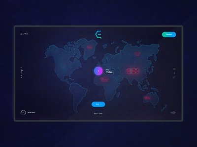 EQUI - Communication Network App Website Design Concept
