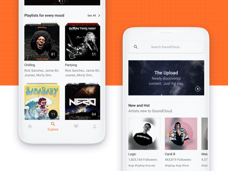 Rethinking Soundcloud music explore ios mobile soundcloud weekly ui ux ui portfolio minimal flat design clean