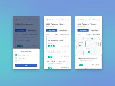 poll finder mobile concept
