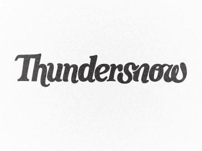 Thundersnow! script swash ligature logotype card game logo