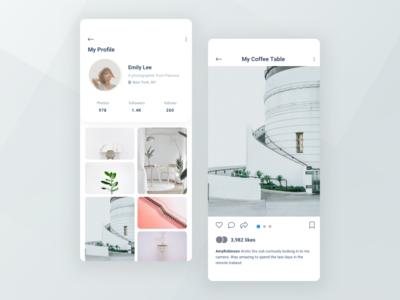 Daily UI [Day 6] User Profile social media dailyui ui design
