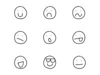 Sketchy faces