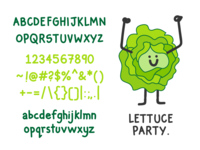 Lettuce Party - A free handwritten font for display use