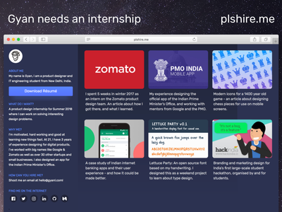 plshire.me web ux ui internships product design