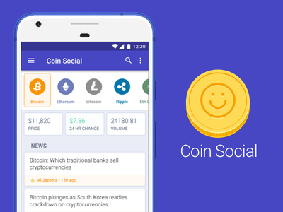Coin Social coin logo icon app ethereum bitcoin cryptocurrency crypto