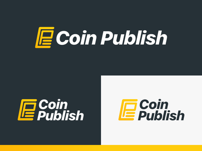 Coin Publish gold coin cryptocurrency news crypto logo branding