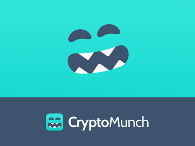 CryptoMunch Splash face branding app delivery food cute cryptocurrency crypto mascot logo monster
