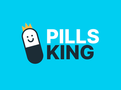 Pills King Logo vector icon cute illustration minimal branding minimal king graphic  design logo