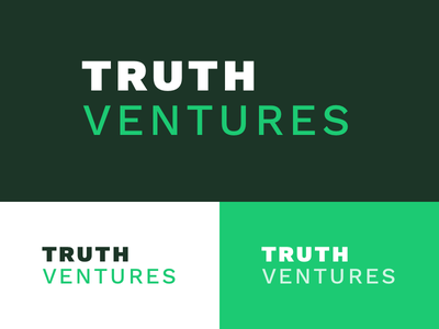 Truth Ventures Logo vc money green logo graphic typography branding
