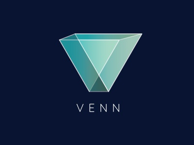Venn Logo Concept venn diagram geometric angles identity branding perspective logo
