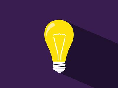 Lightbulb On Purple