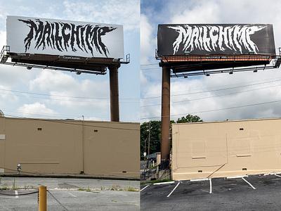 MailChimp Metal Billboard billboard type illustration hand drawn atlanta