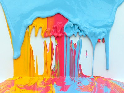 Paint Drips paint paint drips color mailchimp video billboard design