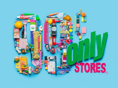 99 Cents Only Stores Logo logo colorful design photography items things organized neatly 99 cents only store
