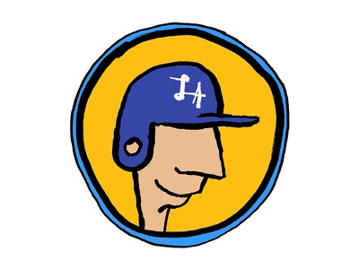 Los Angeles Dodgers Sticker go dodgers hat helmet mlb baseball sticker california dodgers la los angeles