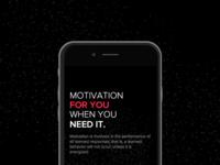 Motivator - iOS push notification based app
