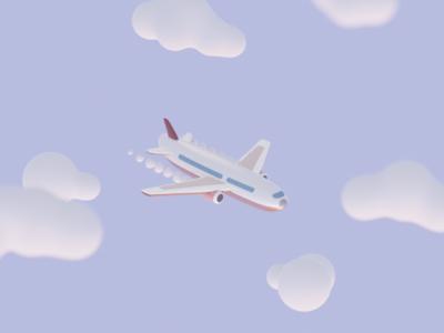 Cute Plane cute illustration toy design blender3d 3d art plane