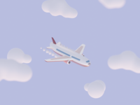 Cute Plane cute illustration toy design blender3d 3d art plane