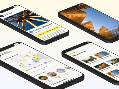 Annecy paysages - App mobile ui design app