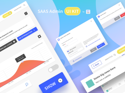 SAAS Admin Web UI Kit by Aboutgoods