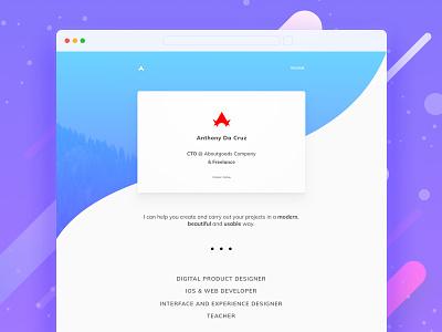 Portfolio 2018 minimal red blue website designer product designer portfolio