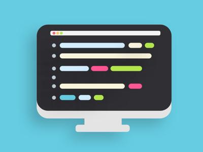Code icon minimal code icon