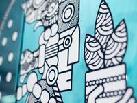 Mayan Coloring Mural