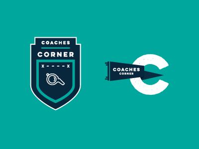 Coaches Corner logo typography coach sports