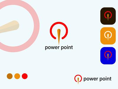 power point logo minimalist ui illustration icon minimal creative modern vector flat design business logo app branding electric power point logo power