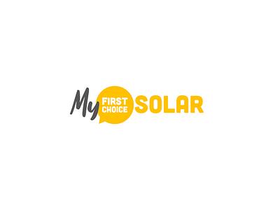 My First Choice Solar Logo solar panels solar energy solar panel solar logo branding