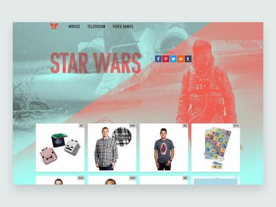 Movie-Tees.com website design branding star wars web design ux ui movies css website