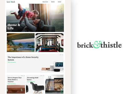 Brick & Thistle clean modern home web design website