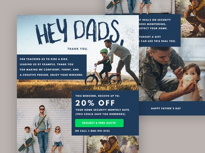 Father's Day Email home security emails email marketing fathers fathers day