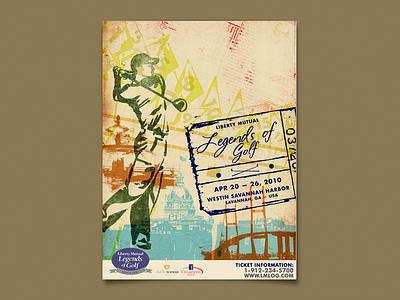 Legends Of Golf savannah poster golf tournament pga golf