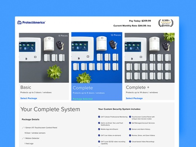 Shop Protect America ux ui design website ecommerce home security home automation