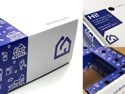 Protect America Packaging & Box vector security branding box design package design