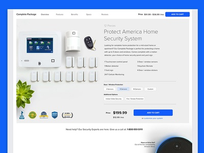 Shopping Landing Page Concept web design buyflow ecommerce home security