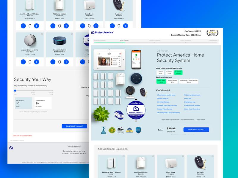 Shopping Landing Page Concept Redux ux ui design website e-commerce design e-commerce home security