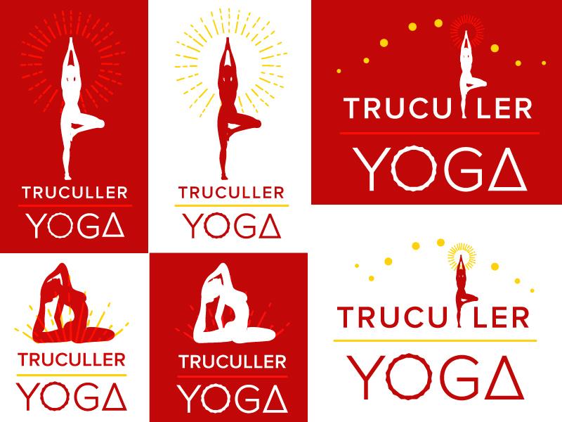Tru Culler Yoga Logo Proposal  freelance meditation hot yoga branding logo yoga