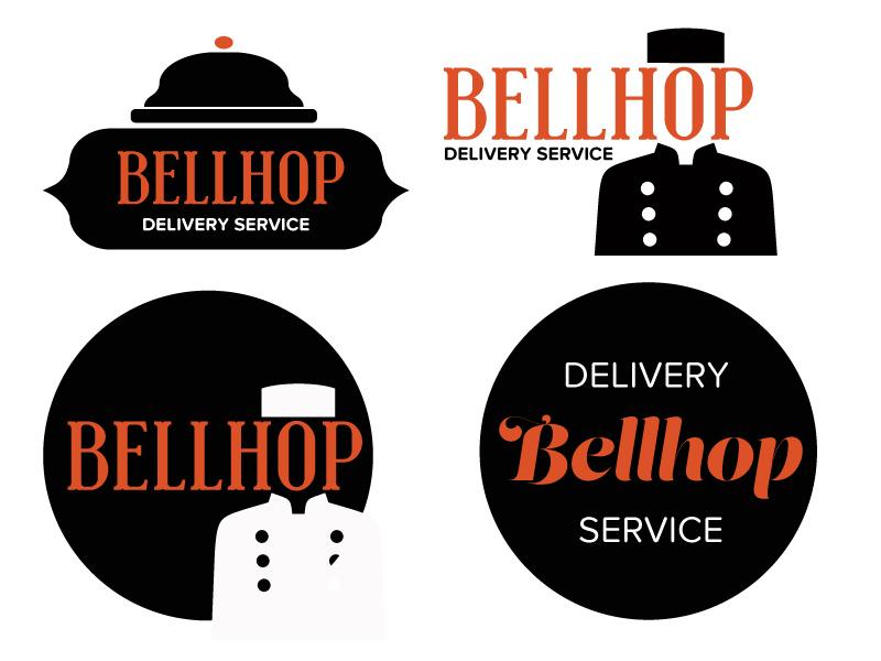 Bellhop Delivery Service brainstorm service delivery service startup branding delivery bellhop logo