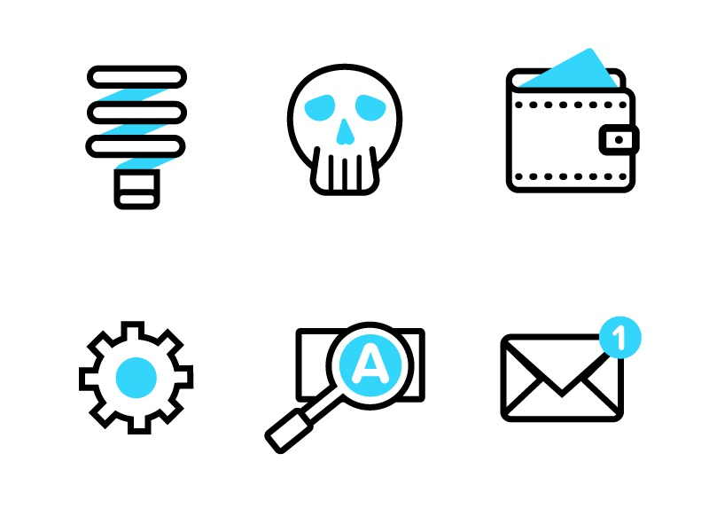 Mobile Icons - Part 3 stroke iconography lines flat illustrator brand icons
