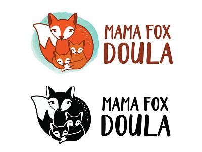 Mama Fox Doula logo mark logo babies mama fox midwife doula