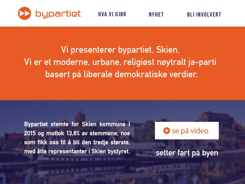 Bypartiet Skien city branding city city party telemark skien mock up website politics norway