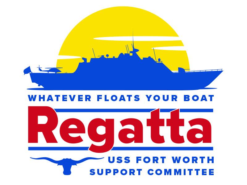Annual Whatever Floats Your Boat Regatta illustrator flat navy ship event uss fort worth lcs navy boat logo regatta