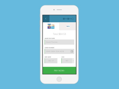 Credit Card Form By Jason Bean  Dribbble