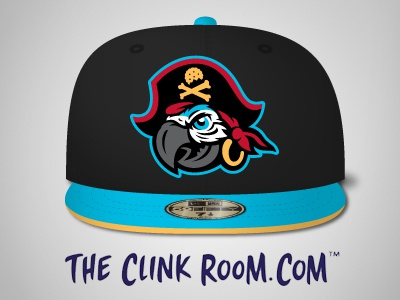Cap't Crackers hats hat caps cap mascot logo mascot crackers cracker pirate logo pirates pirate parrot logo parrots parrot