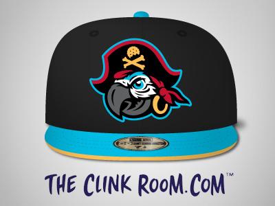 Cap't Crackers hats hat caps cap mascot logo mascot crackers cracker pirate logo pirates pirate parrot logo parrots parrot