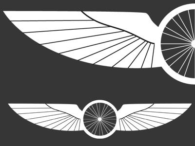 Winged wheel dribble