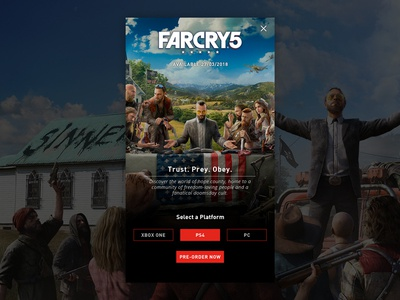 Daily UI #075 - Pre-Order gaming mobile ad ui ui design far cry ux user interface design user experience design daily ui pre-order