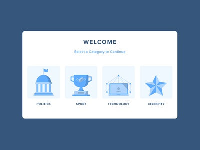 Daily UI #099 - Categories